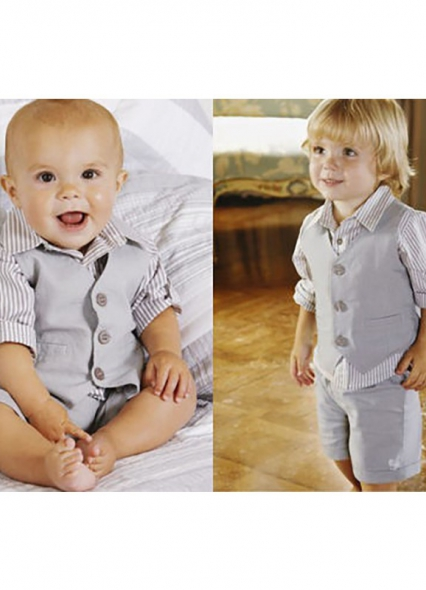 NEW BOYS 3 - PIECE SET LINEN SUIT CHRISTENING BAPTISM OCCASION WEAR VARIOUS SUIT