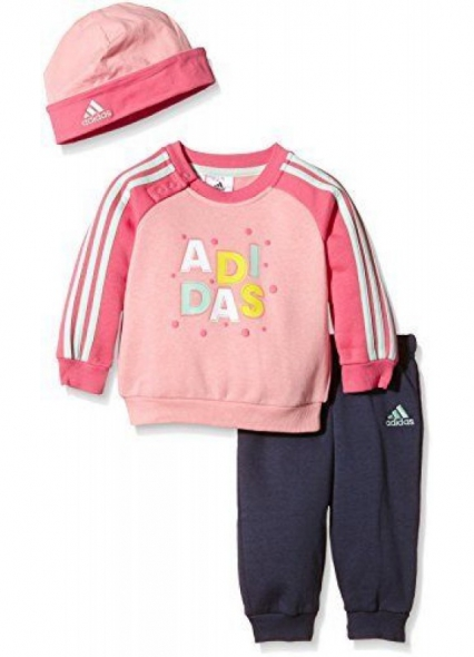 ADIDAS BABY GIFT SET JOGGER ( TOP / TROUSER / HAT ) NEW IN GIFT BOX PINK 3-4YEAR
