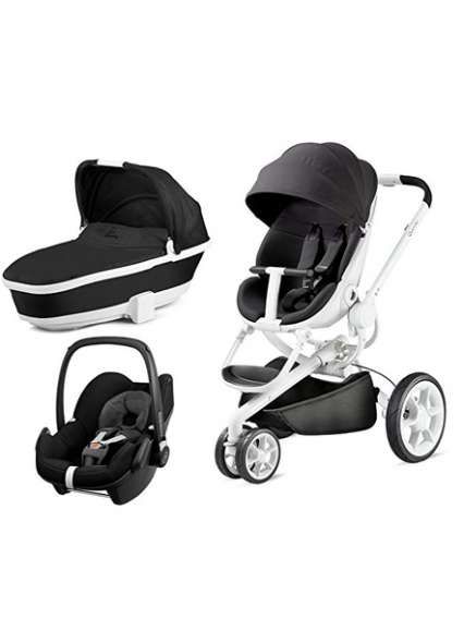 Quinny Moodd Pram | Carrycot Black Irony | Pebble Black Irony